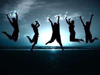 обои Танцующие танцоры в воздухе фото
