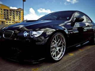 обои Черный BMW Coupe фото