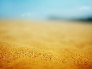 обои Желтый песок близко снят фото