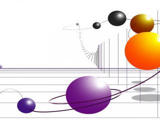 обои Пояс разноцветных шаров фото