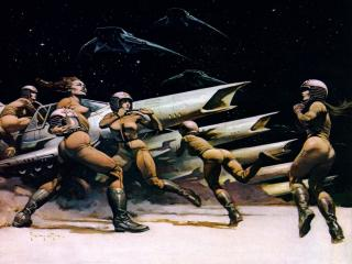 обои Frank Frazetta - Space Attack фото