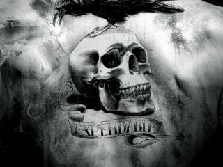 обои Татуировка с черепом фото