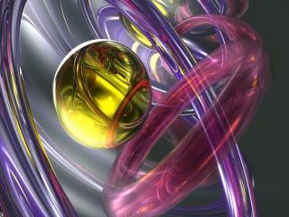 обои Кольца и золотой шар фото