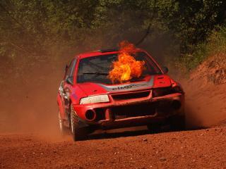 обои Двигатель в огне фото
