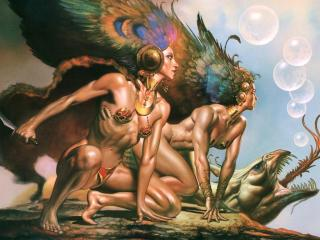 обои Boris Vallejo - Bird Of Evil фото