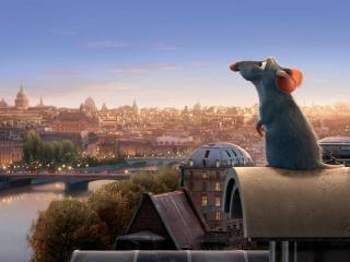 обои Рататуй на фоне Парижа фото