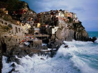 обои Итальянское побережье осень фото
