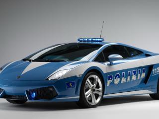 обои Полицейский Lamborghini фото