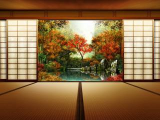 обои Японский стиль зала фото