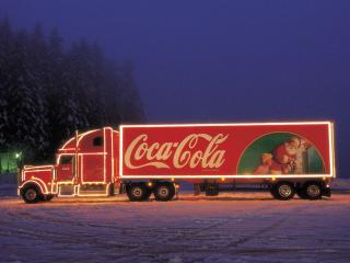 обои Кока кола грузовик фото