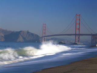 обои Мост золотые ворота фото
