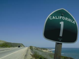 обои Дорога в калифорнию фото