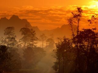 обои Восход в Тайланде фото