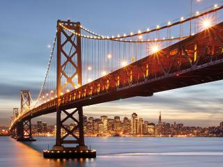обои Подвисной мост в Сан франциско фото