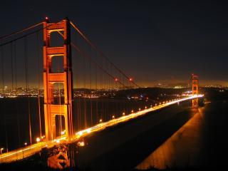 обои Красивый ночной мост фото