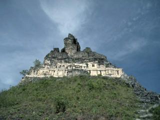 обои Рушащийся древнегреческий храм на горе фото
