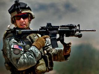 обои Боец армии США фото