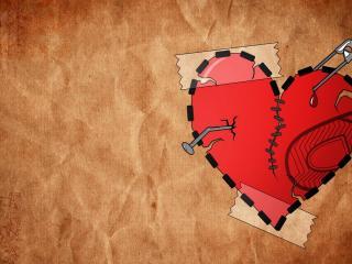 обои Пробитое сердце фото