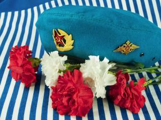 обои для рабочего стола: Цветы и голубой берет