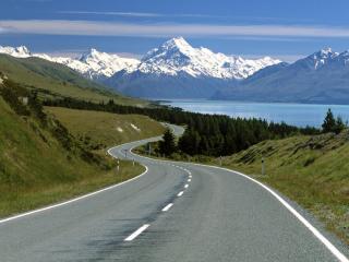 обои Дорога новой Зеландии фото