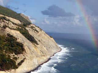 обои Пейзаж радуги в океане фото