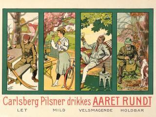 обои Раритетная реклама пива Carlsberg Pilsner фото