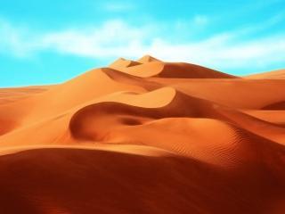 обои Ровные барханы песка фото