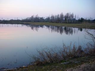 обои Весна на пруду в городе  Саласпилс, Латвия фото
