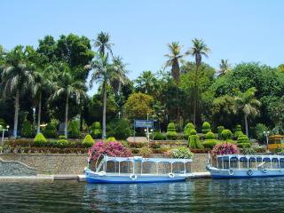 обои Лодки на фоне экзотического пейзажа фото