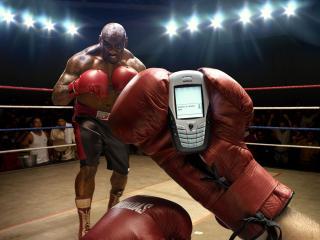 обои Боксер на ринге фото