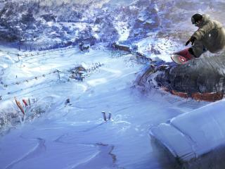 обои Сумасшедший прыжок сноубордиста фото
