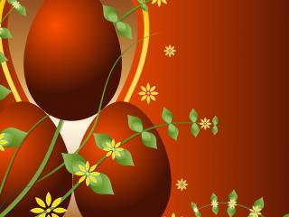 обои Красные пасхальные яйца фото