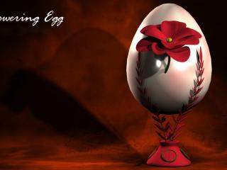 обои Пасхальное яйцо на подставке фото