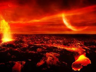 обои Огненная планета фото