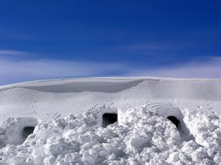 обои Снежные постройки фото