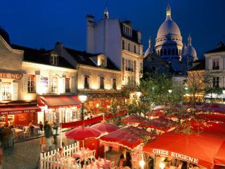 обои Place du Tertre. Париж. Франция фото