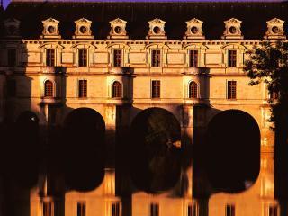 обои Замок Шенонсо в вечернем свете. Долина Луары. Франция фото