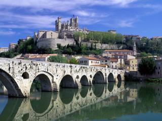 обои Река Орд. Безье. Франция фото