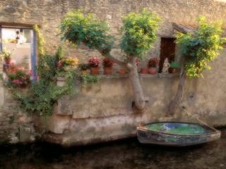 обои Речной канал вдоль домов. Остров Сюр ла Сорг. Франция фото