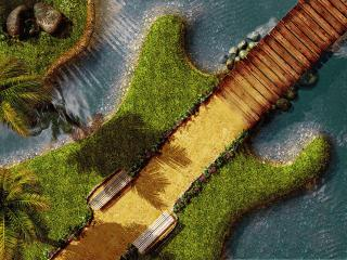 обои Островок - гитара фото