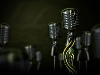 обои Собрание микрофонов фото