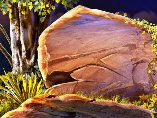 обои Дерево и камень фото