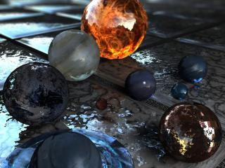 обои Хрустальные шары планеты фото