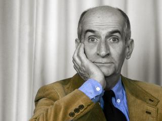 обои Французский комик Луи де Фюнес фото