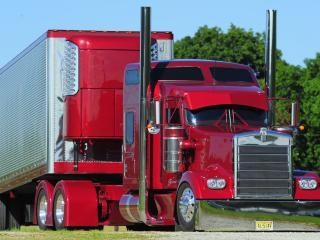 обои Красный Kenwort  грузовик фото