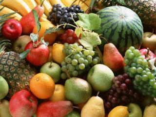 обои Много сочных фруктов фото