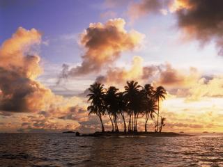 обои Островок для уединенного отдыха фото