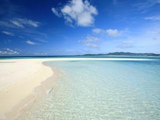 обои Теплый песок тропического берега фото