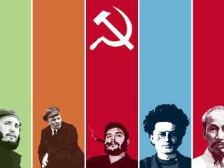 обои Коммунисты: Фидель,   Ленин,   Че,   Троцкий фото