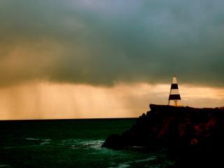 обои Полосатый маяк фото